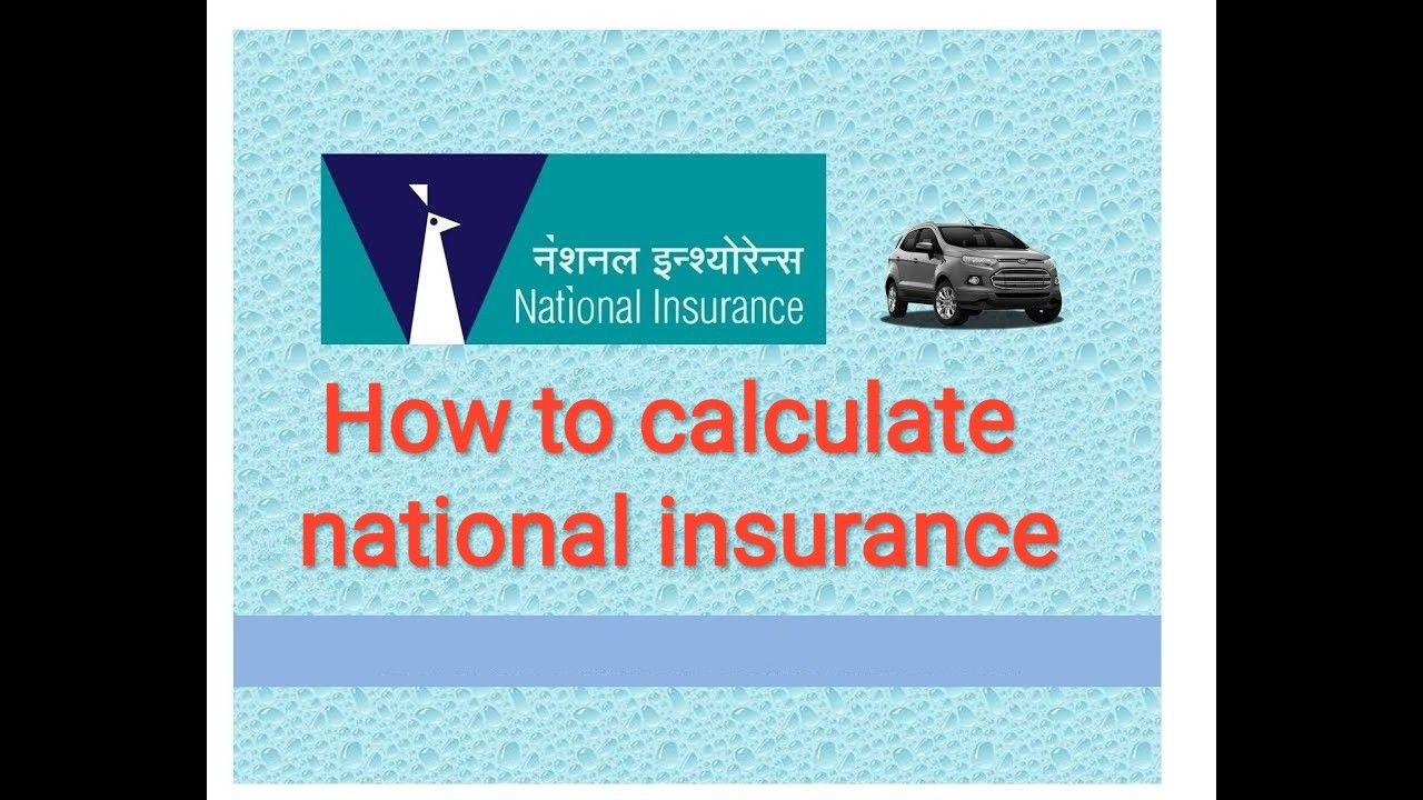 National Insurance Insurance National Insurance Contributions
