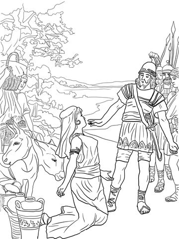 David And Abigail Coloring Page From King David Category Select