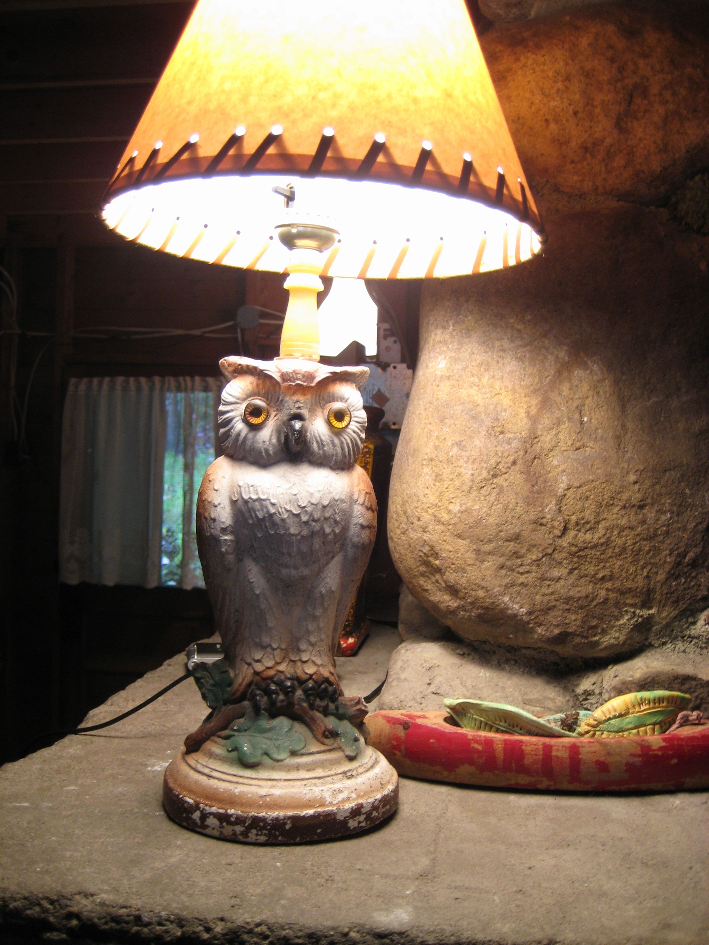 Vintage owl lamps - Vintage Owl Lamp Th