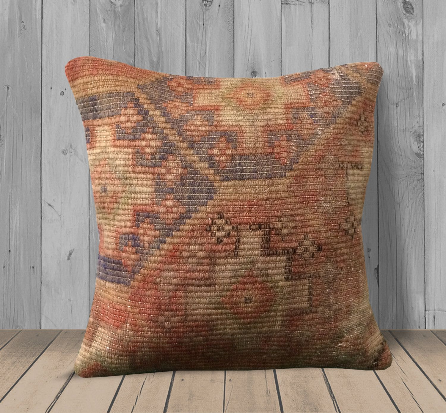 Burnt Orange Navy Large Pillow Covers 20x20 Southwest Kilim Pillow Cases Handmade Pillows Pastel Pillow Throw Pillows Cushion For Couch Large Pillow Covers Large Pillows Handmade Pillows