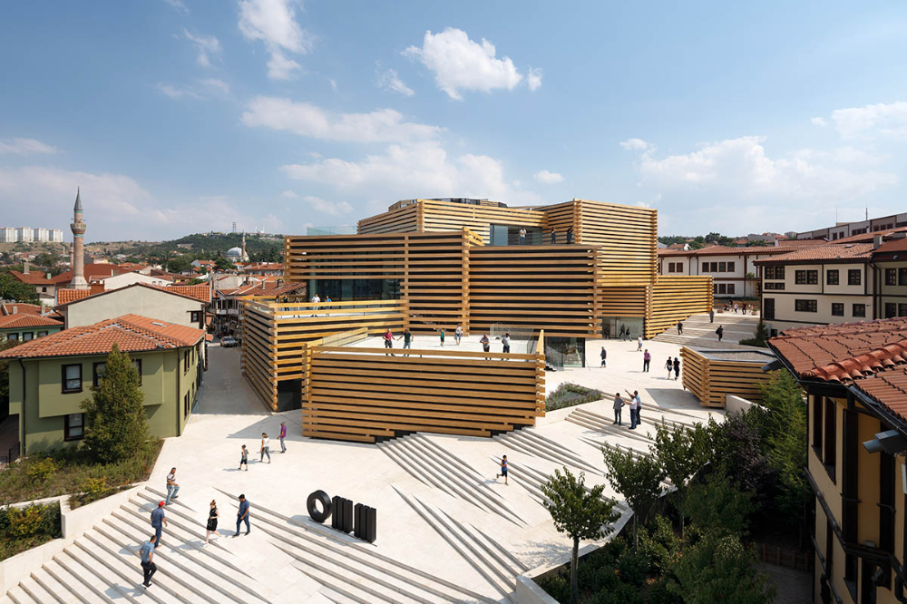 Kengo Kuma S Odunpazari Modern Museum Comprised Of A Cluster Of Wooden Boxes Opened In Turkey In 2020 Museum Of Modern Art Kengo Kuma Architecture