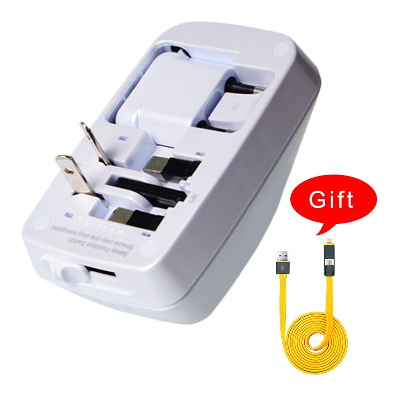 International uk usa eu au power adaptor adapter multi plug usb wall ...