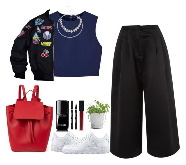 """""""Untitled #34"""" by vvfgy ❤ liked on Polyvore featuring Alice + Olivia, Edit, Bling Jewelry, Lipsy, NIKE, Mansur Gavriel, Chanel, Smashbox and Potting Shed Creations"""