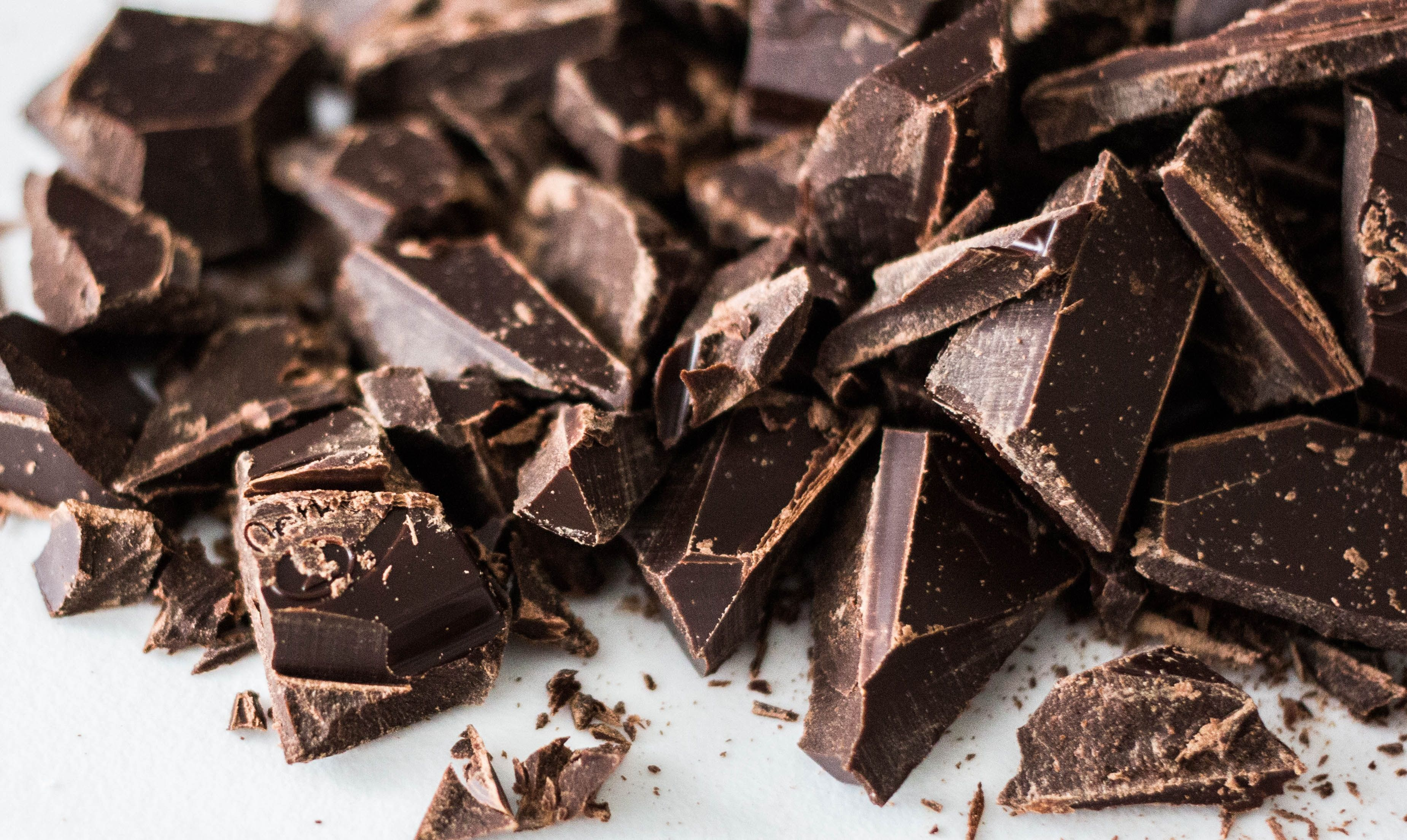 Chunks of dark chocolate