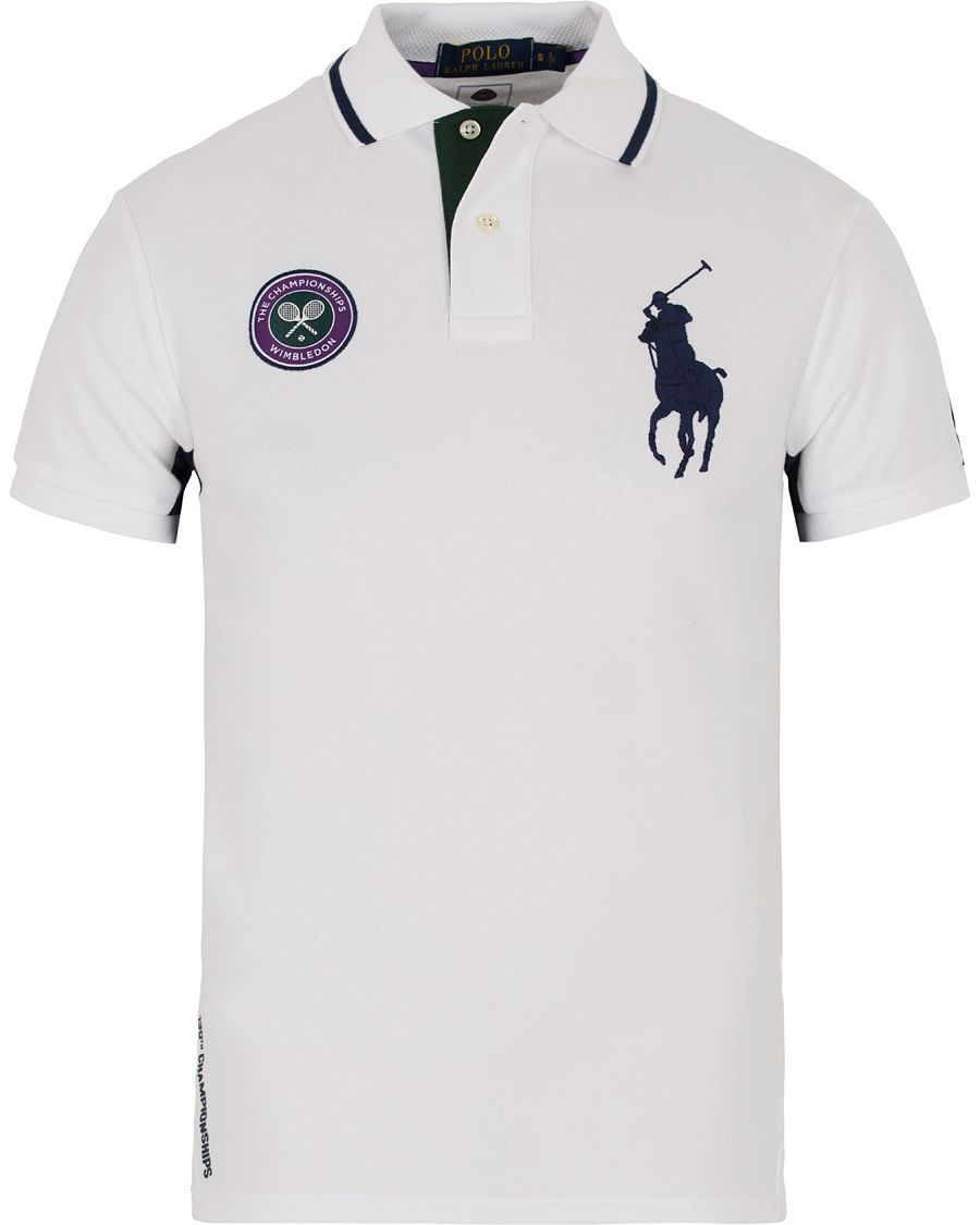 Polo Ralph Lauren Wimbledon Polo White Multi Hos Careofcarl