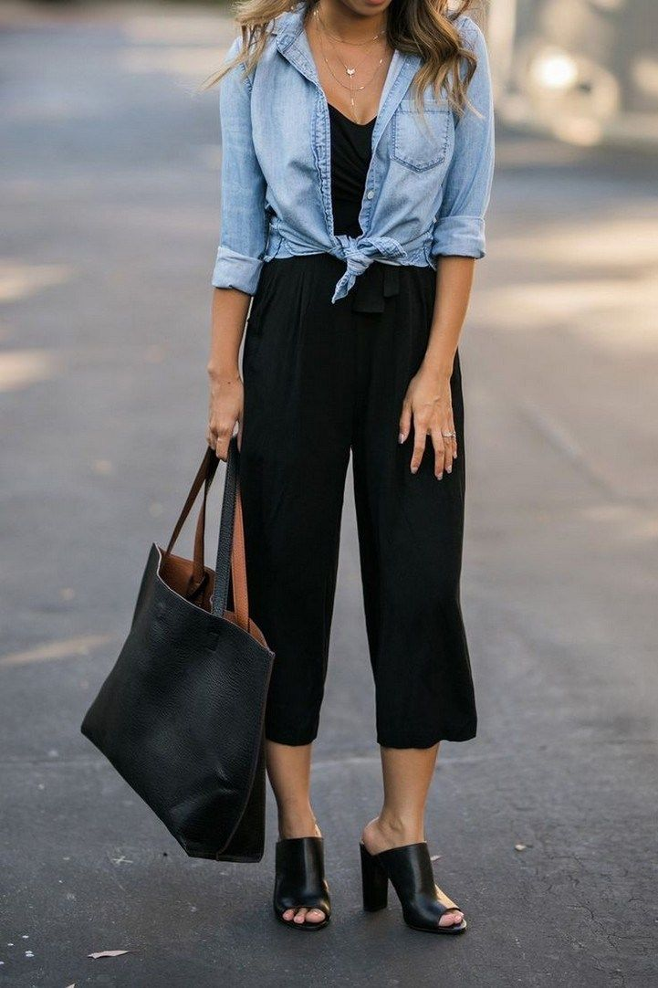 Summer trend alert culottes 06 ~ Litledress is part of Black culotte jumpsuit -