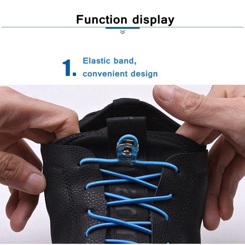 1 Pair of Perfect One Hand No Tie Laziness Shoelace Laces Elastic Convenient
