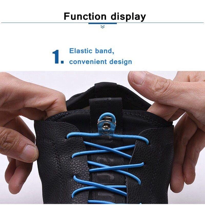 1Pair of One Hand No Tie Laziness Shoelace Stretchy Convenient Shoe Laces