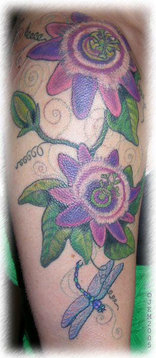 Passion Flower Tattoo 3 Passion Fruit Flower Tattoos Flower Tattoo Designs