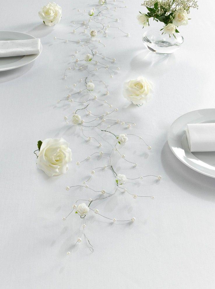 """Deko-Sticker """"Weiße Rose"""", 8er Set"""