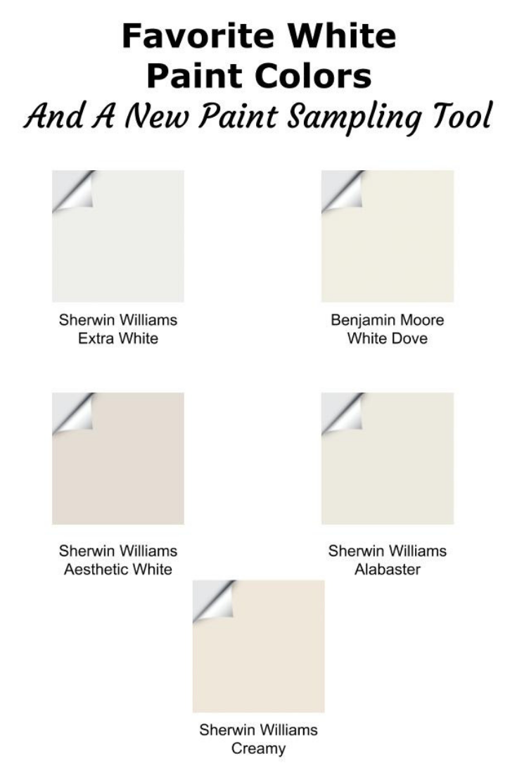 Favorite White Paint Colors And A Fab New Paint Sample Tool - White paint colors, Paint colors, White paints, Paint samples, Indoor paint colors, Best white paint - Do you have a problem picking the best white paint color for your home  Well, I'm here to help