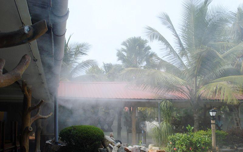 Indoor Outdoor Mist Cooling System Misting Shading System Drip Design