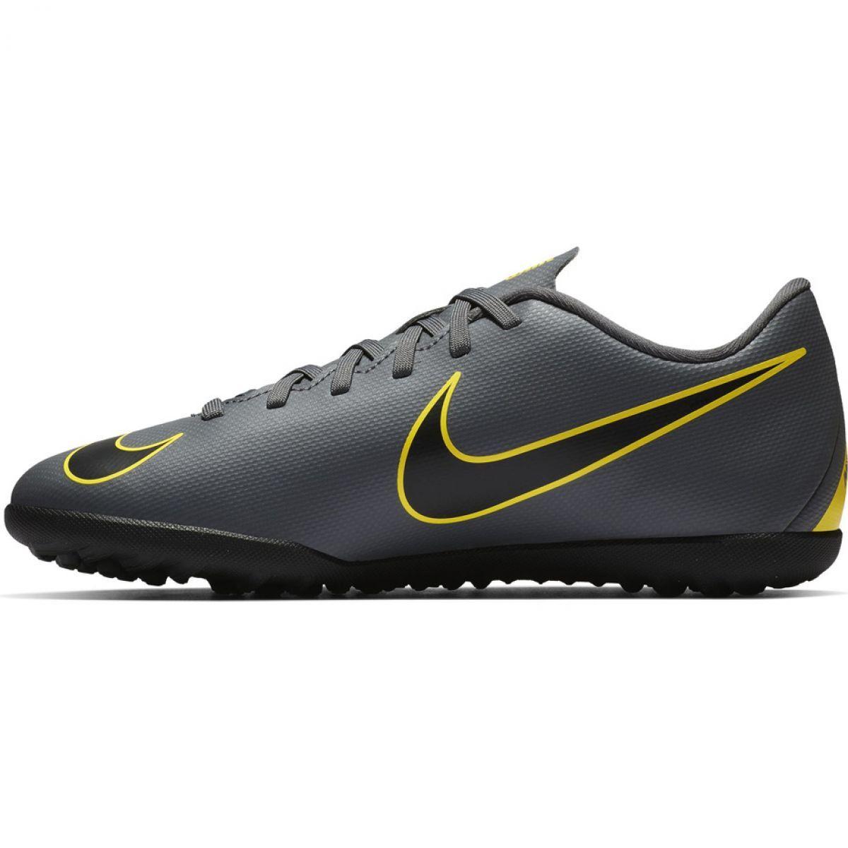 Buty Pilkarskie Nike Mercurial Vapor X 12 Club Tf Jr Ah7355 070 Szare Czarne Football Shoes Nike Shoes