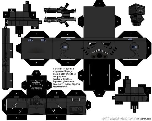 (---)15 Star Wars Cubeecraft Paper Toy Models You Will Also Want To Make!