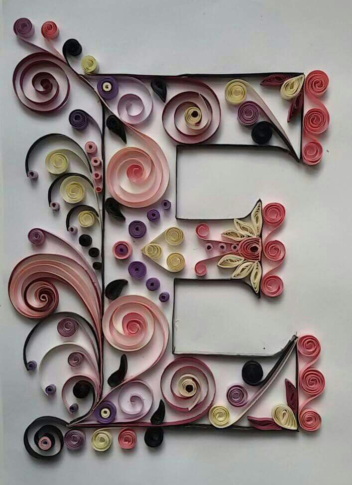 """""""E"""" Quilling."""