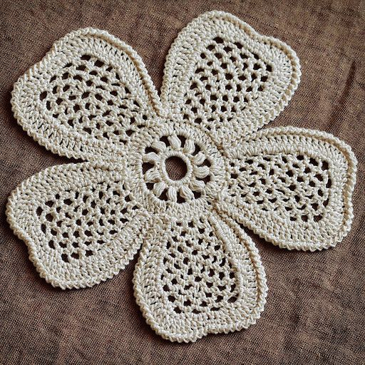 Irish Crochet Motif 5 Petals Flower Irish Crochet Labs And Crochet