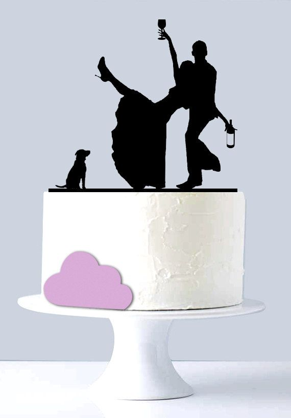 Funny Wedding Cake Topper Drunk Couple Acrylic By Suntopdesigns
