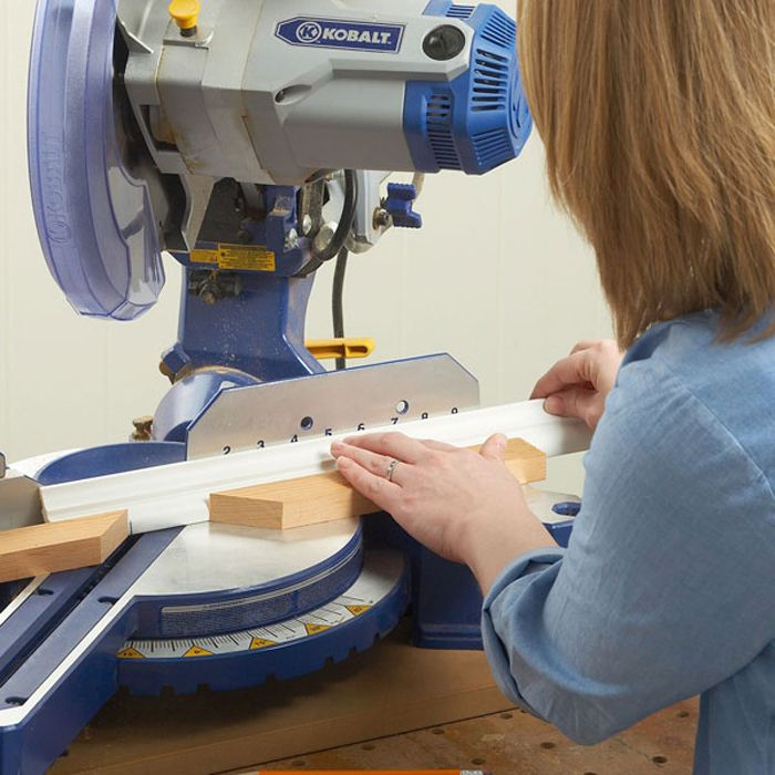 How To Install Crown Molding On Kitchen Cabinets: Set Up Miter Saw For Cutting Crown Moulding