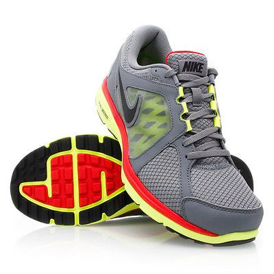 Nike Dual Fusion Run Msl Mens 525761-002 Grey Yellow Red Running Shoes Size  10