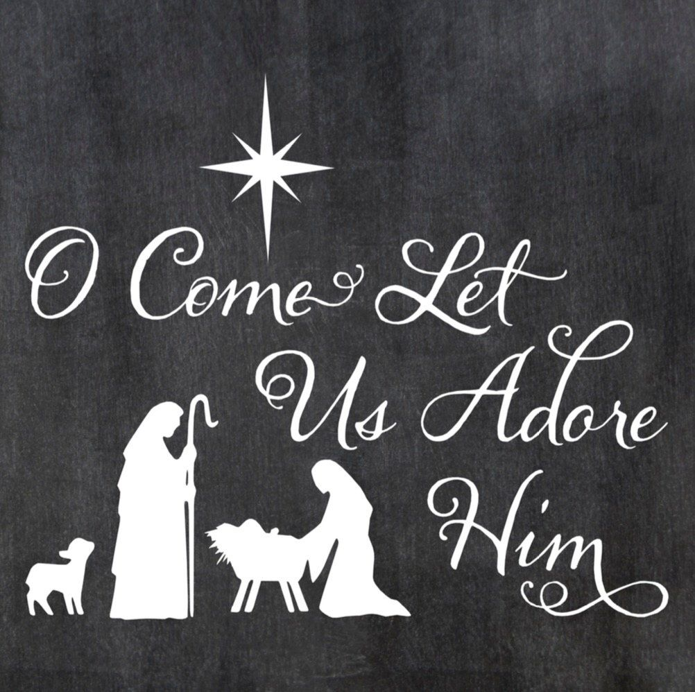 Oh Come Let Us Adore Him Wood Signs Christmas Signs Wood: Pin By Deena Hunt On Cricut