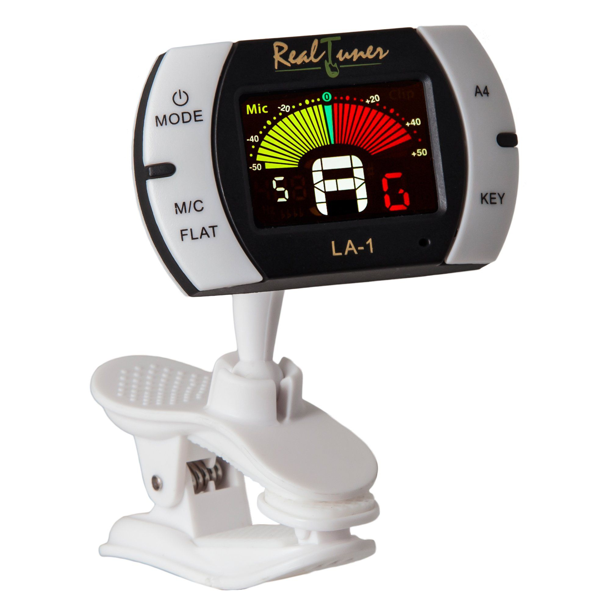 Real Tuner Chromatic Clip on Tuner for Guitar, Bass