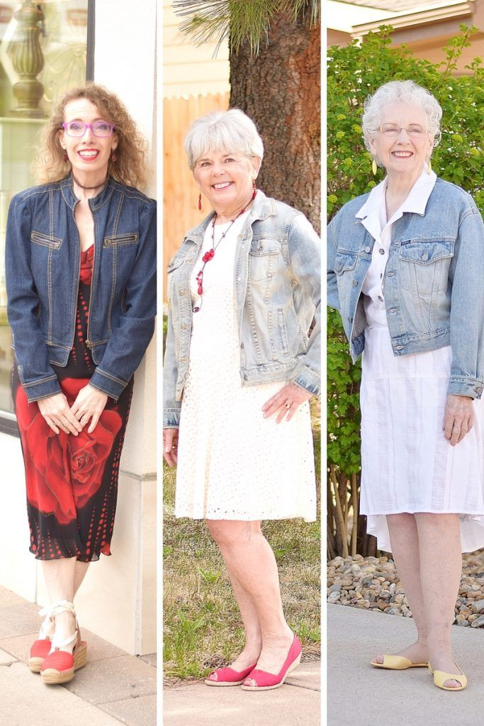 Adding your Denim Jean Jacket to a Dress