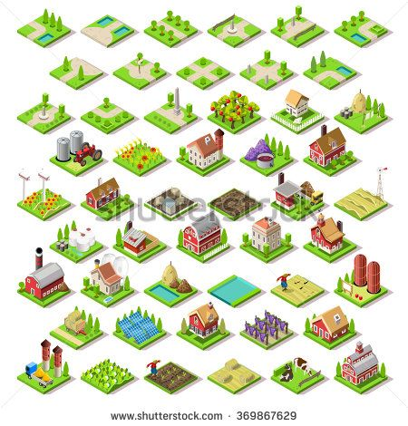Isometric Building Farming Elements 4 Game Development Gamedev Indiedev Gameinsight Gaming Androidgames Ipadgame Isometric Isometric Design Isometric Map