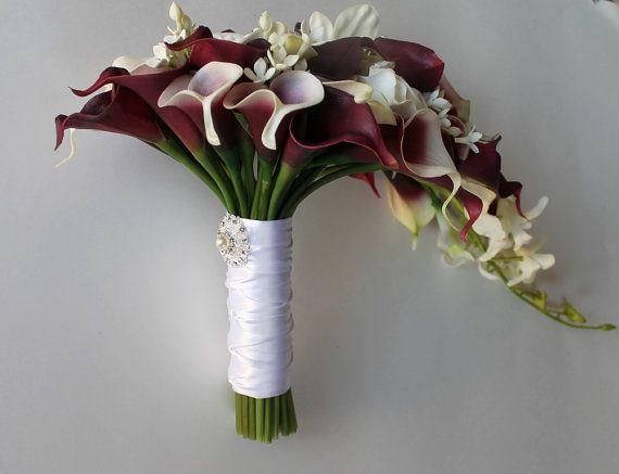 Cascade Wedding Calla Lily Bouquet Cramberry Bouquet Bridal Etsy Bridal Bouquet Bridal Bouquet Calla Lillies Calla Lily Bridal