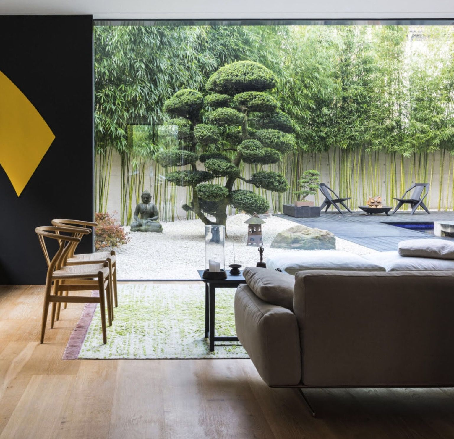 A Room With A Zen Garden View In Cologne, Germany | Elle Decor UK,