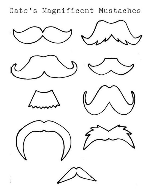 Cateu0027s Magnificent Mustaches moustache printable template - face template printable