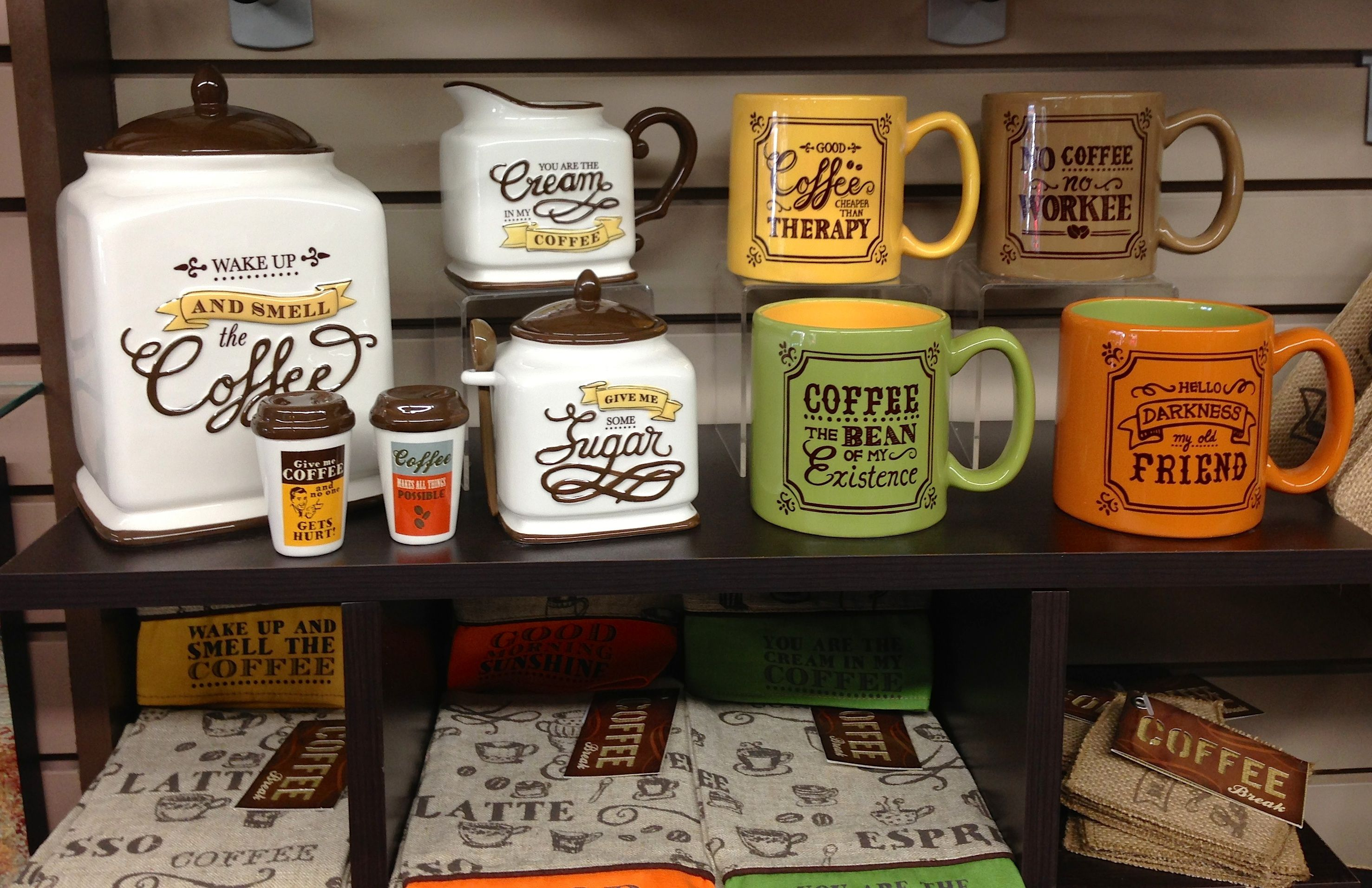 Retro Coffee Canister, sugar and creamer set, at Memento Gift ...
