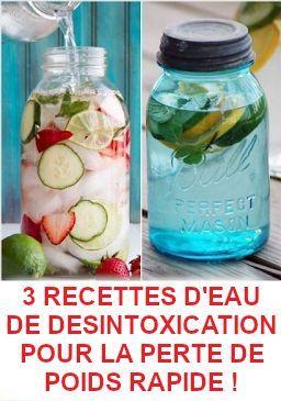 3 recettes d'eau de désintoxication pour la perte de poids
