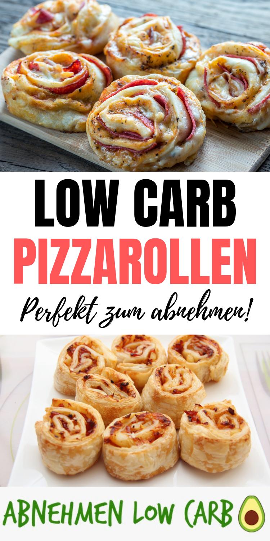 Schnelles und einfach Low Carb Rezept zum abnehmen! Mega leckere Pizzarollen!