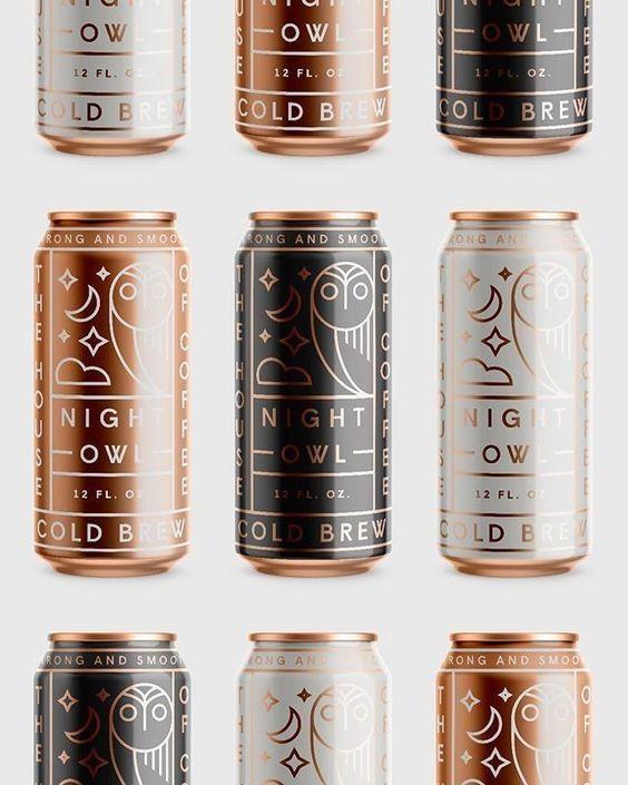 J'aime beaucoup les motifs sur les canettes. Je pense que la couleur bronzy était un dieu choic ... - Minimalisme 2019