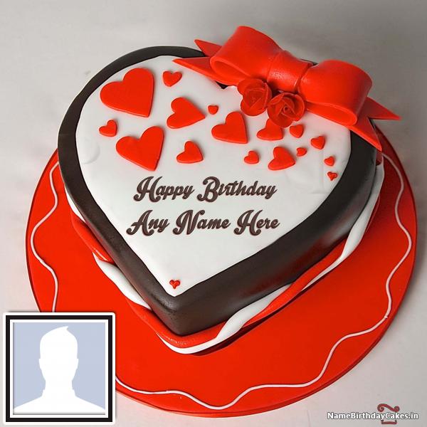 Romantic Birthday Cake For Boyfriend With Name Boyfriends Gift