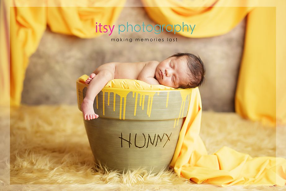 JME PortraitsEEAdorable newborn disney winnie the pooh photo – Winnie the Pooh Birth Announcements