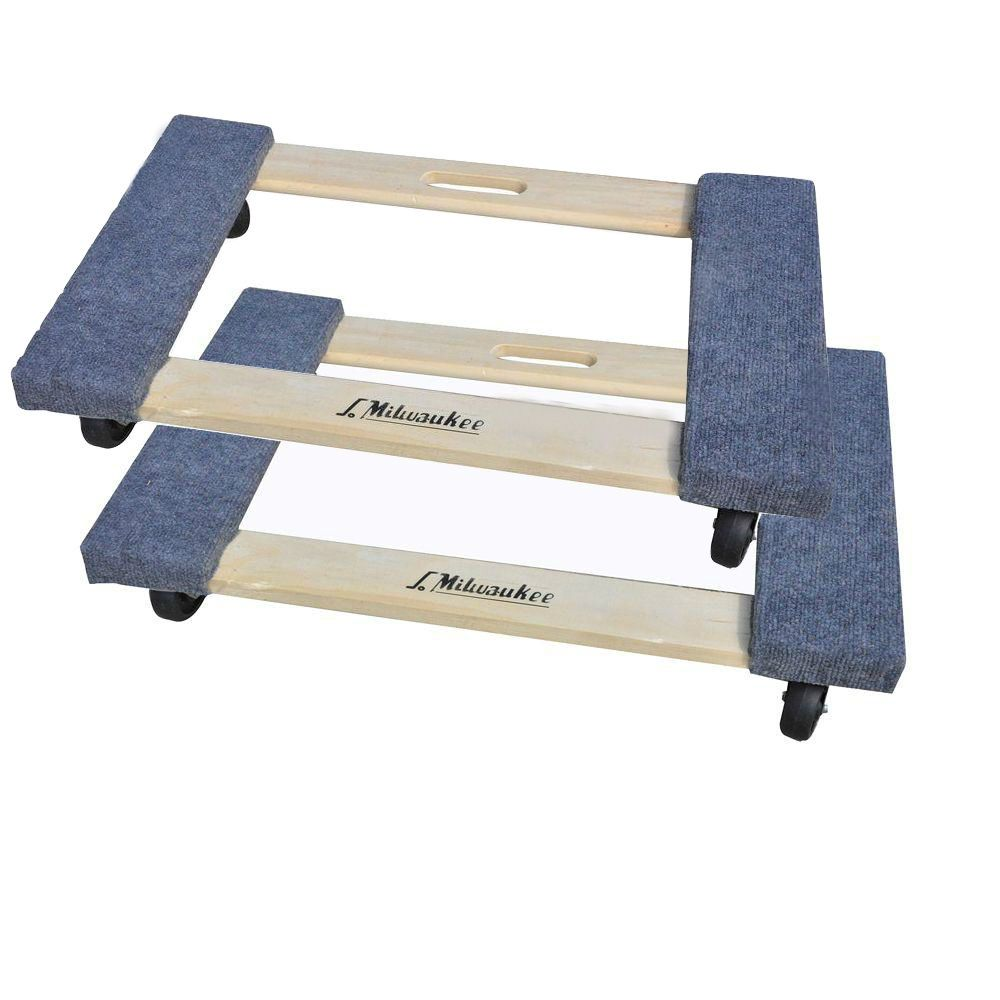1 000 Lb Cap Wood Portable Padded Furniture Wheeled Moving Dolly Carts 2 Pack Milwaukee Furniture Wheels Furniture Dolly Cheap Furniture Website