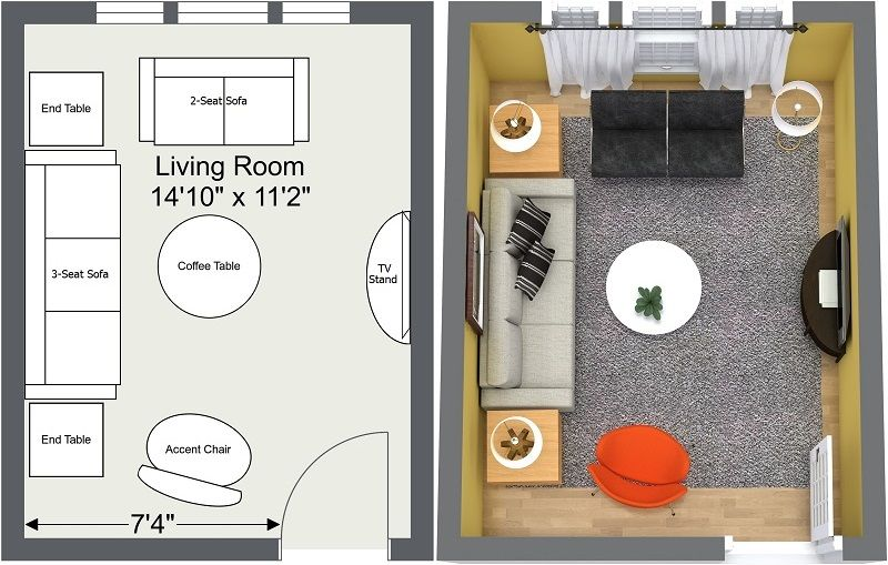 Expert Tips For Small Living Room Layouts Roomsketcher Blog Small Living Room Layout Living Room Furniture Layout Livingroom Layout