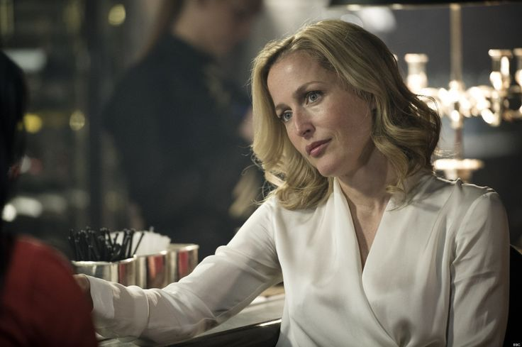 f265f1b851e Gillian Anderson as Stella Gibson. Her silk blouses are gorgeous ...
