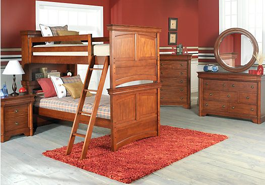 Shop For A Oberon Cherry 10 Pc Bunk Bedroom At Rooms To Go Kids