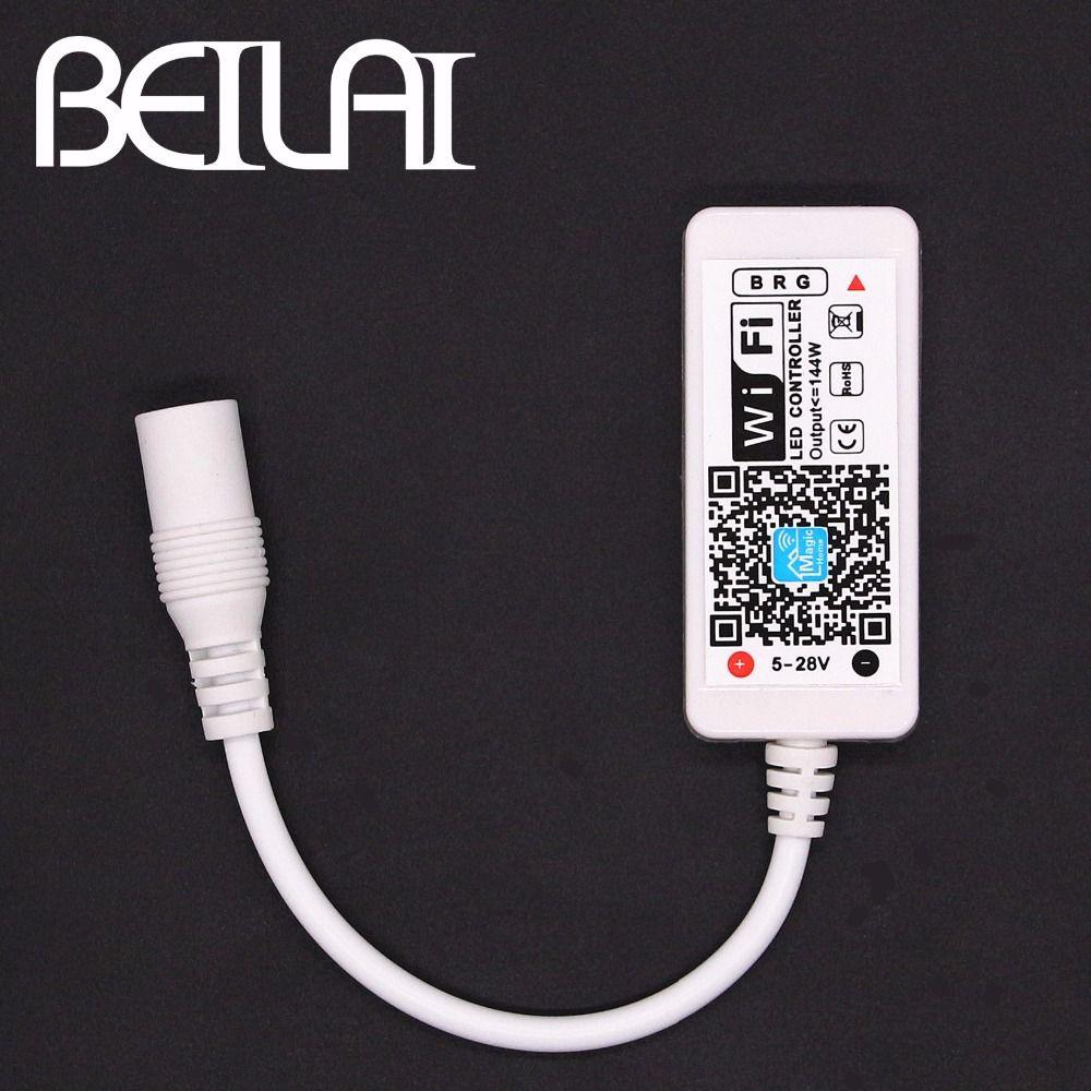 Beilai Dc 12 V Mini Wifi Led Rgb Controleur Avec Dc Femelle Par Smartphone Controle Pour Smd 5050 2835 Rgb Led Light Strip With Images Light Accessories Led Strip Lighting Rgb Led Strip Lights