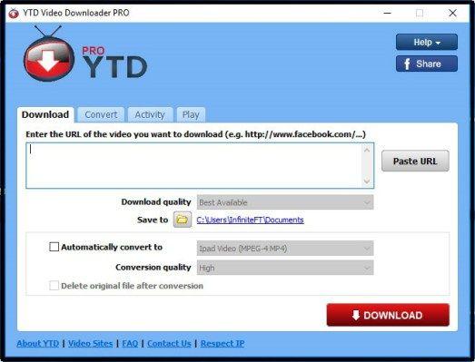 ytd video downloader for windows 10