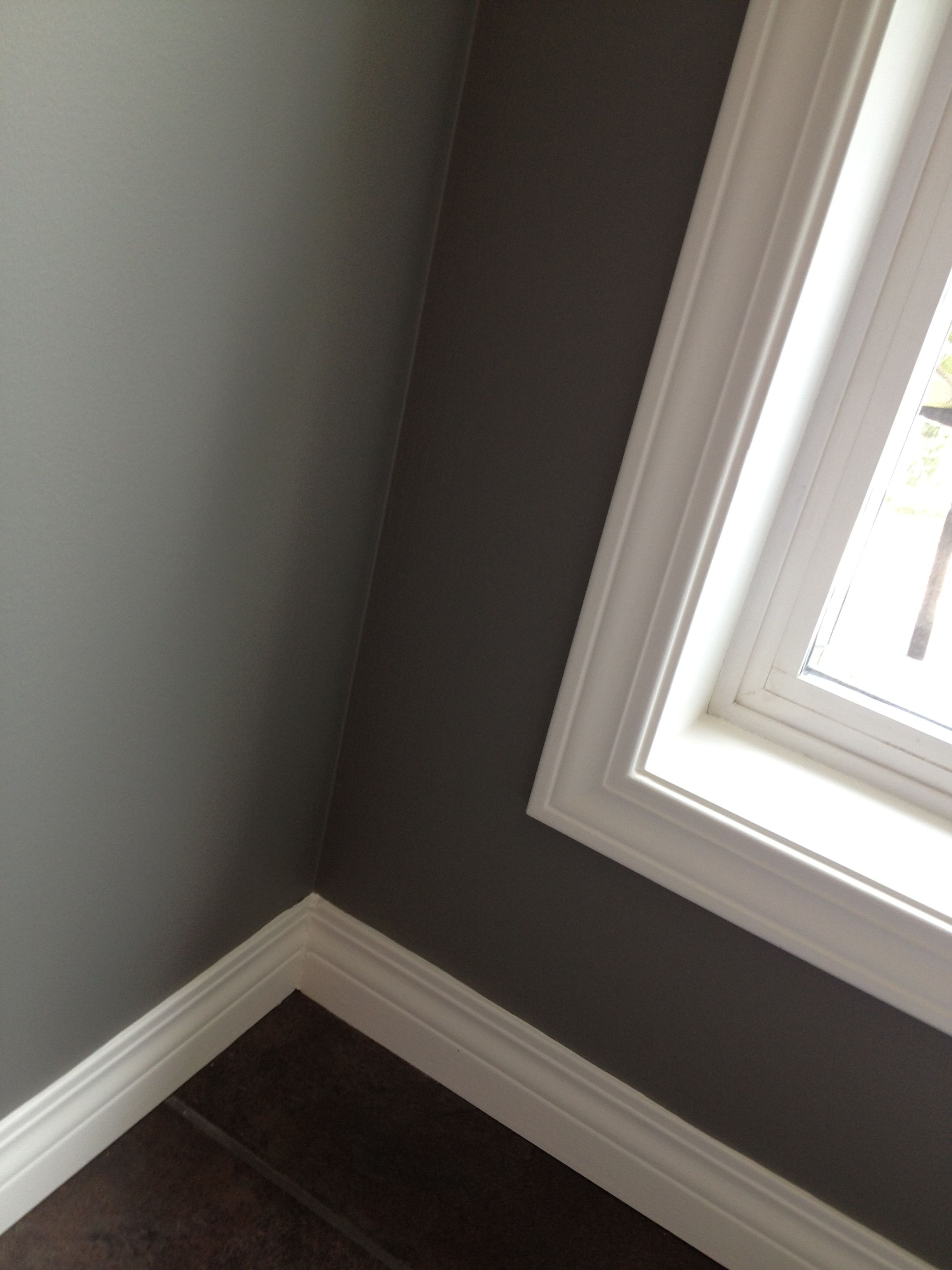 Pin By Nikki Oliva On Benjamin Moore And Other Paint Companies Grey Wall Color Updating House Grey Walls