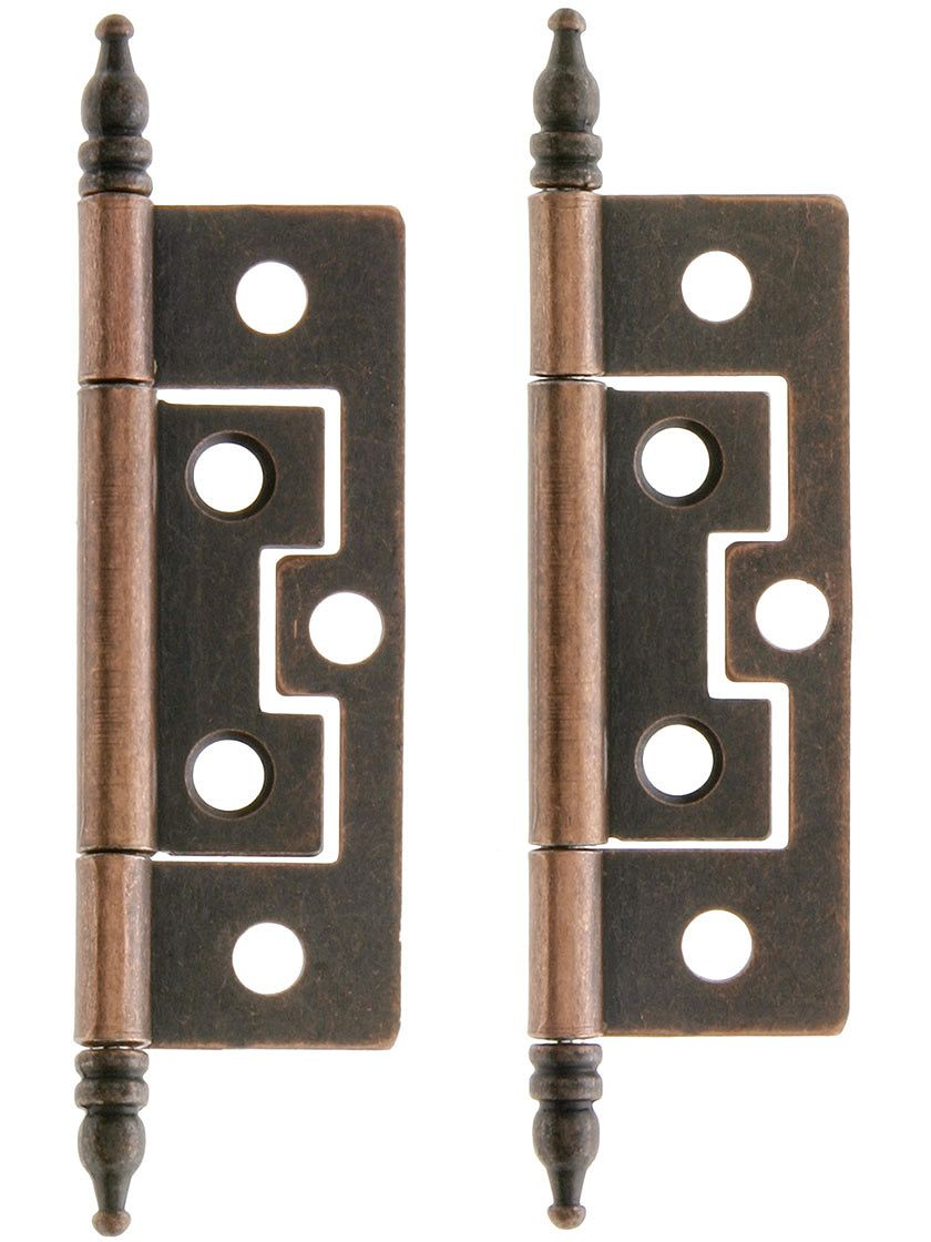 Surface Cabinet Hinges Pair Of 2 1 Non Mortise In Oil Rubbed Bronze