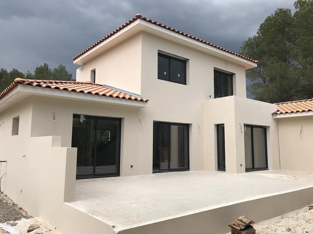 Couleur Exterieur Maison Contemporaine otre maison blanche ?❤️ | couleur façade maison, crepi