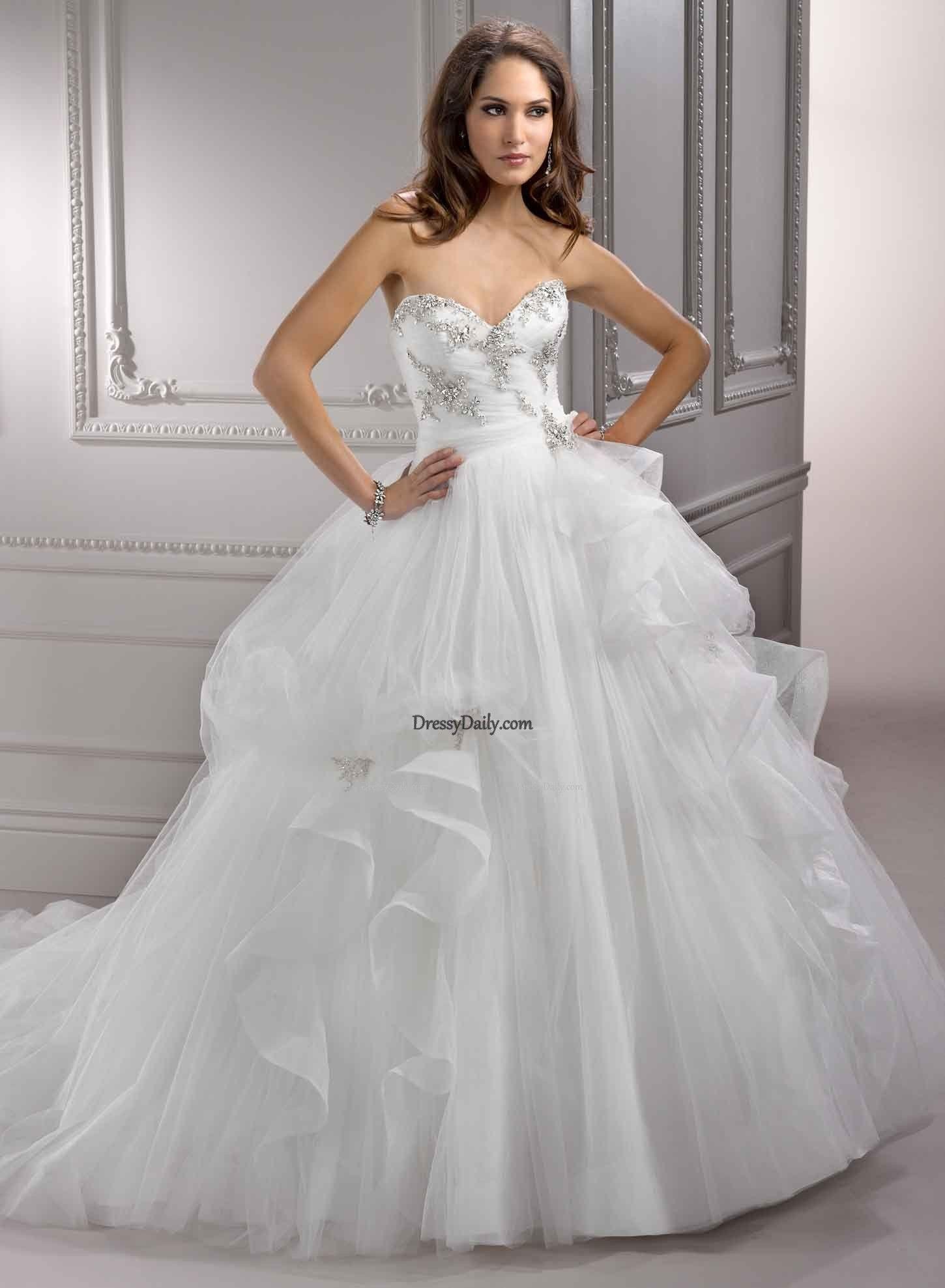 Wedding dresses ball gown sweetheart  Elegant Hot Sale Sweetheart Organza and Pleat Empire Wedding Dress