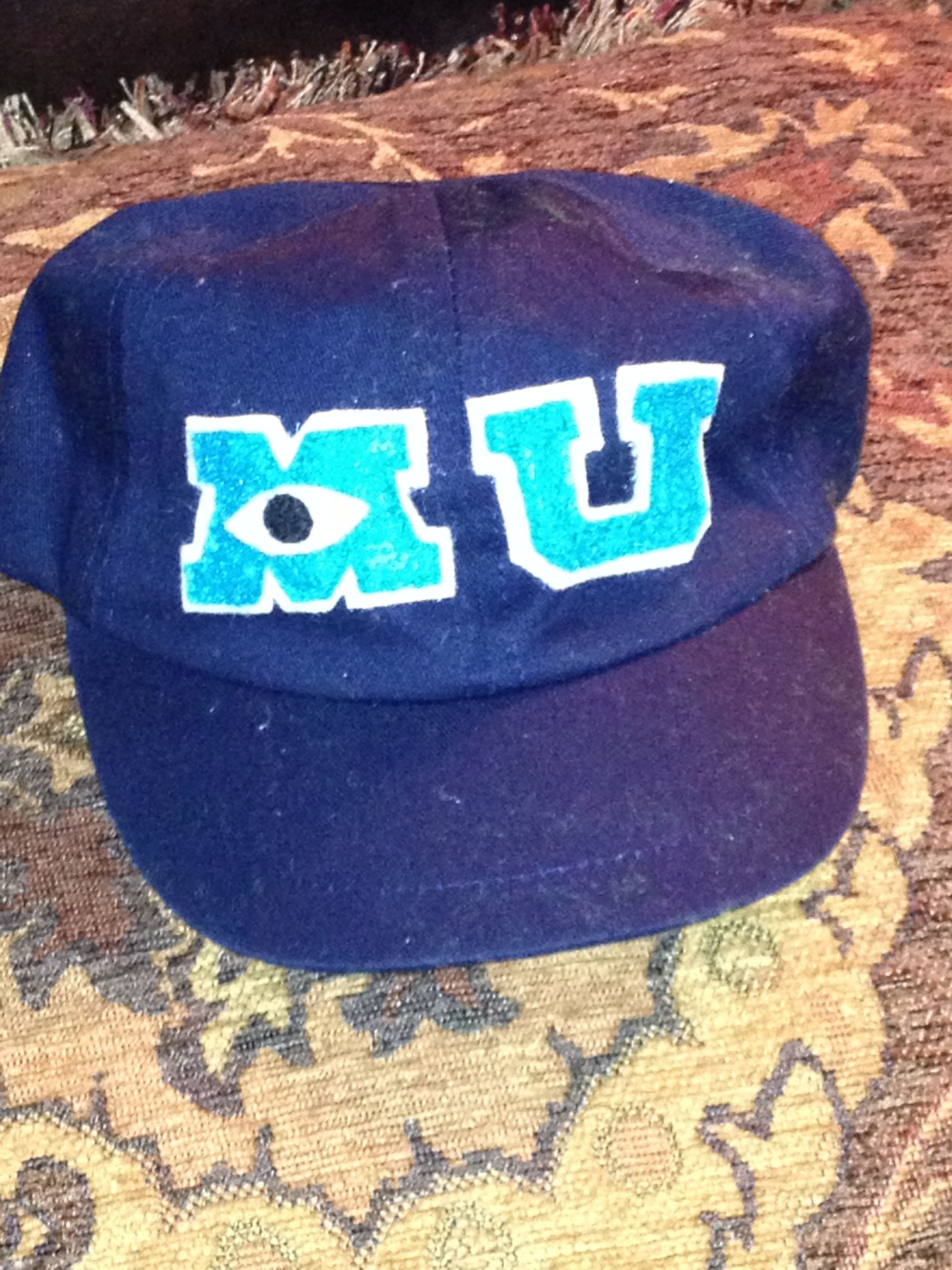 Monsters University Diy Toddler Costume Hat Walmart Toddler Hat In Navy Less Than 3 50 Felt In White Diy Toddler Costumes Little Monster Party Diy Monsters