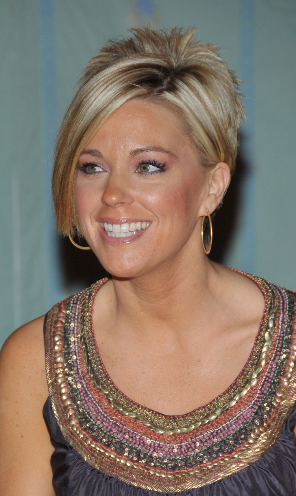 a tribute to kate gosselin's iconic spiky reverse mullet bob