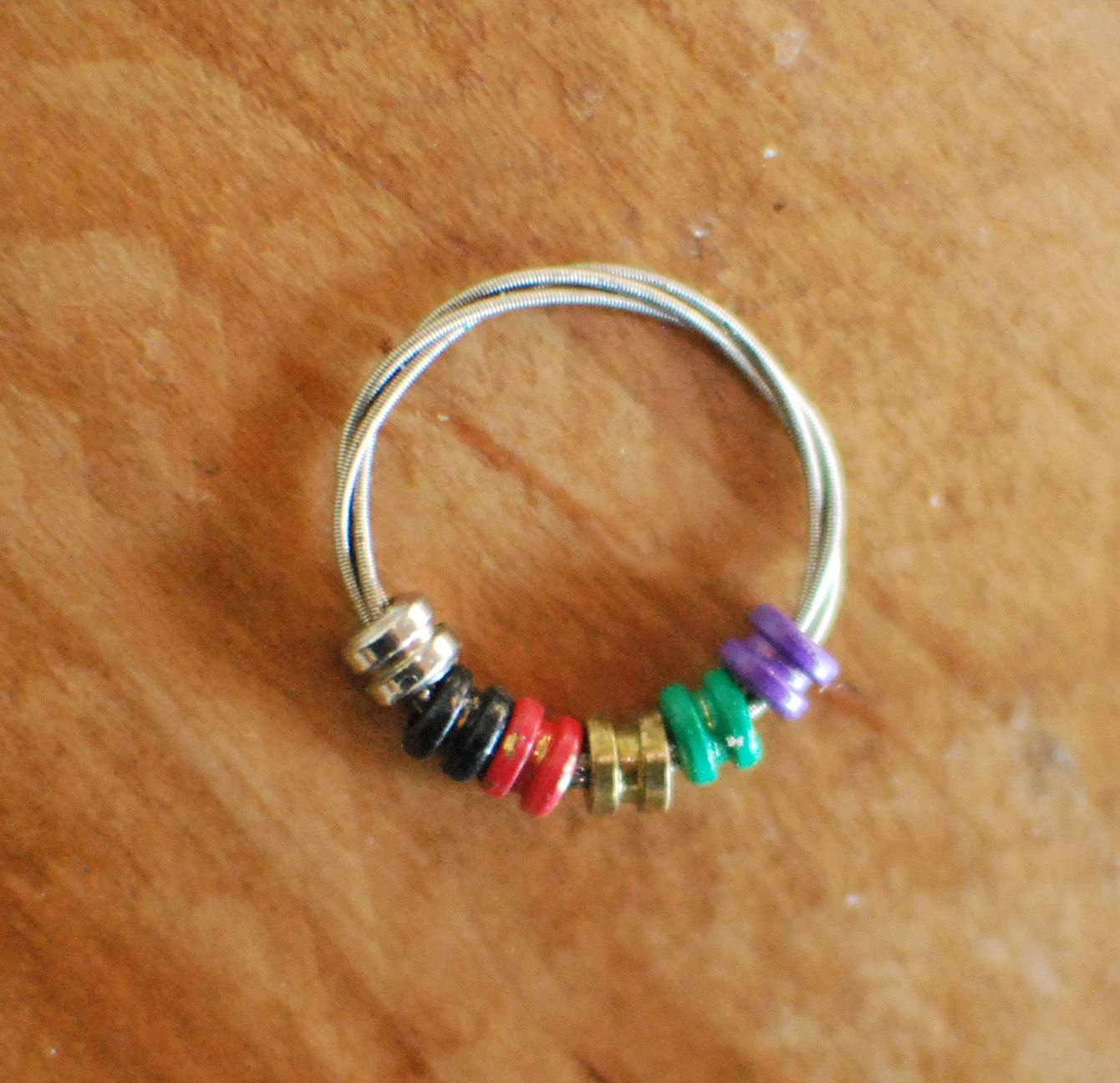 Design Your Own Custom Bangle Charm Bracelet Pick Your Charms: Custom Guitar String Fidget Ring, Design Your Own, Choose
