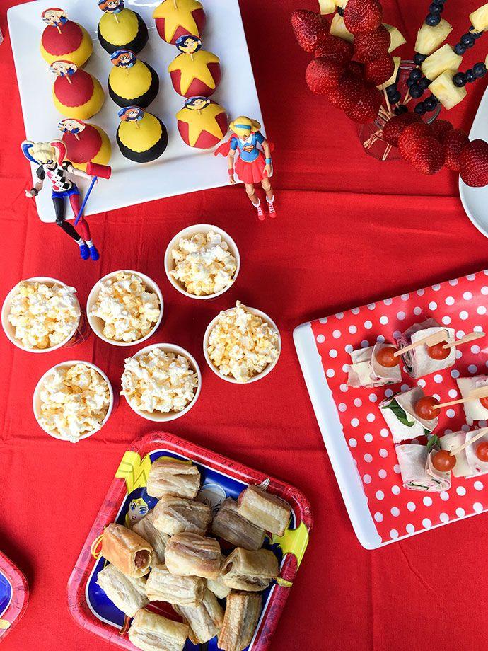 Emmas DC Super Hero Girls Party Fun Food Decorating Activity Ideas